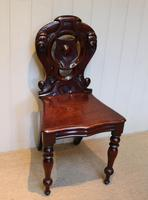 Mid Victorian Mahogany Hall Chair (5 of 8)