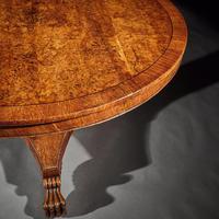 Fine Regency Burr Oak Tilt Top Table (8 of 8)