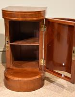 Edwardian Mahogany Bow-fronted Bedside Cabinets (3 of 9)