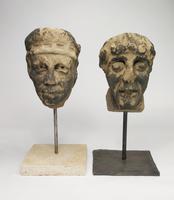 Pair of 14th Century European Stone Heads