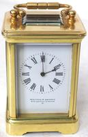 Antique Miniature 8 Day Carriage Clock by Walters & George Regent Street Rare (13 of 14)