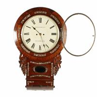 Rosewood Double Fusee Wall Clock (6 of 6)