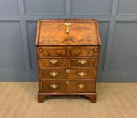 George I Style Burr Walnut Bureau (3 of 18)