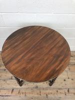 Antique Walnut Circular Centre Table (7 of 10)