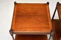 Pair of Antique Georgian Style Yew Wood Side Tables (4 of 14)