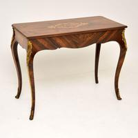 Antique Victorian Marquetry Top Console Table (11 of 12)