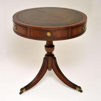 Antique Regency Style Mahogany & Leather Drum Table (2 of 7)