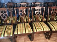 Set of Ten Georgian Style Mahogany Dining Chairs (12 of 13)