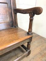 Large Antique Oak Settle (4 of 12)