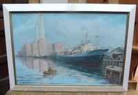 Oil on board seascape Shoreham Power Station Listed Artist Max Parsons ARCA (5 of 10)