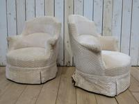 Pair of Antique French Tub Armchairs (2 of 9)
