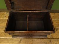 Antique Oak Chest with Carved Ship Detail to Lid Maritime Nautical Storage Chest (12 of 14)