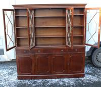 1960s Large 4 Door Mahogany Bookcase with Glazed Top (3 of 4)