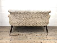 Victorian Three Piece Suite with Gold Floral Upholstery (12 of 26)