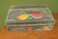 Shabby Chic Folk Art Painted Writing Slope Box with Fruit, Recipe Storage (5 of 14)