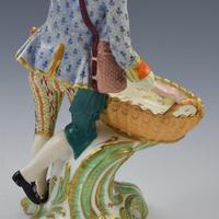 Fine Pair Minton Porcelain Sweetmeat Figures with Baskets Models 84 & 85 c.1830 (21 of 23)
