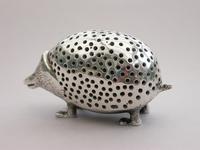 Edwardian Novelty Cast Silver Porcupine Pin Cushion (6 of 15)