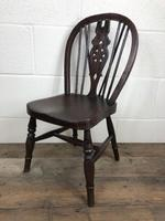 Antique Ash & Elm Child's Wheelback Chair (3 of 6)