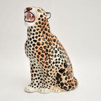 1970's Large Vintage Porcelain Leopard Sculpture (8 of 11)
