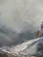 Oil on Board The Battle Ship Listed Artist Dion Pears (4 of 12)