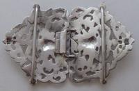 Victorian 1899 Hallmarked Solid Silver Nurses Belt Buckle Charles May of London (5 of 8)