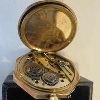 Antique 14ct Gold Cased, Enamel-decorated, Ladies Watch (7 of 12)