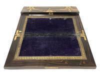 Victorian Coromandel Brass Bound Writing Slope (9 of 16)