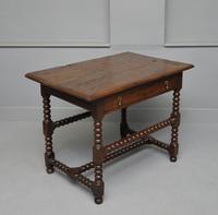 17th Century Bobbin Turned Oak Side Table (4 of 12)