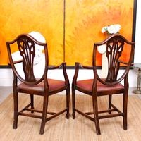 Dining Table & 8 Chairs Mahogany 3.2 Metres Long Hepplewhite Stalker (10 of 16)