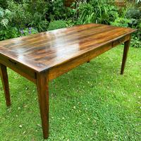 French Farmhouse Table in Walnut (2 of 7)