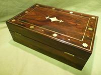 Regency Style Inlaid Rosewood Jewellery – Table Box c.1830 (6 of 11)
