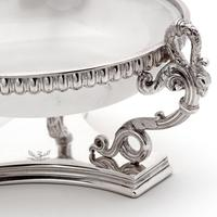 Victorian Silver Plated Butter Preserve Dish with Opeline Glass Liner (5 of 6)