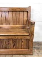 Rustic Pitch Pine Settle Bench (4 of 9)