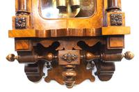 Rare Impressive Antique Burr Walnut 8-Day Twin Weight Striking Vienna Regulator Wall Clock by Gustav Becker (11 of 13)