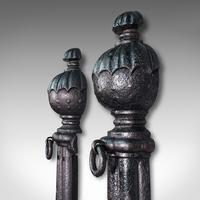 Pair of Antique Stable Yard Hitching Posts, Equestrian, Architectural, Georgian (6 of 10)