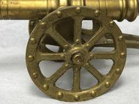 Small Antique French Victorian 19th Century Brass Cannon Ornament (4 of 18)