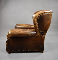 Large Brown Leather Arm Chair (6 of 8)