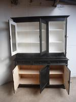 Reclaimed Pine Painted Black / White 6 Door 6 Drawer Kitchen Dresser / Bookcase (5 of 9)