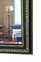19th Century ebonised and gilt mirror overmantle wall (3 of 9)