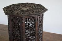 Anglo Indian Carved Table with Octagonal Top (10 of 10)