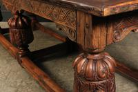 Large 18th Century Carved Oak Dining Table (12 of 21)