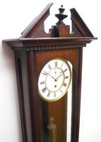 Antique German Single Weight Walnut 8-Day Vienna Regulator Wall Clock (8 of 10)