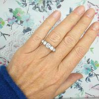 Vintage 18ct Platinum Five Stone Diamond Ring 1.20 Carat ~ with independent valuation (2 of 9)