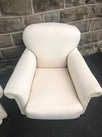 Pair of antique English armchairs for recovering (5 of 9)