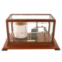 Edwardian Oak Cased Barograph (4 of 8)