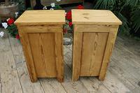 Fantastic & Large Pair of Old Stripped Pine Bedside Cabinets - We Deliver! (9 of 9)