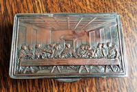 Rare French F Morel Solid Silver Last Supper Scense Lud Snuff Box (17 of 18)