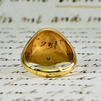 The Vintage 1987 Sunrise Diamond Signet Ring (3 of 7)