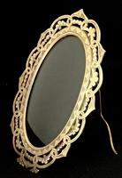 Victorian Brass Oval Easel Photo Frame