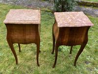 Pair of marquetry bedside tables (4 of 5)